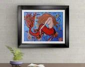 Mermaid Found Signed Art Print of Signature Original By Rafi Perez