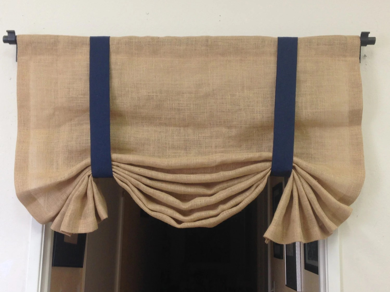 Burlap Tie Up Valance Nautical Curtains Burlap Curtains