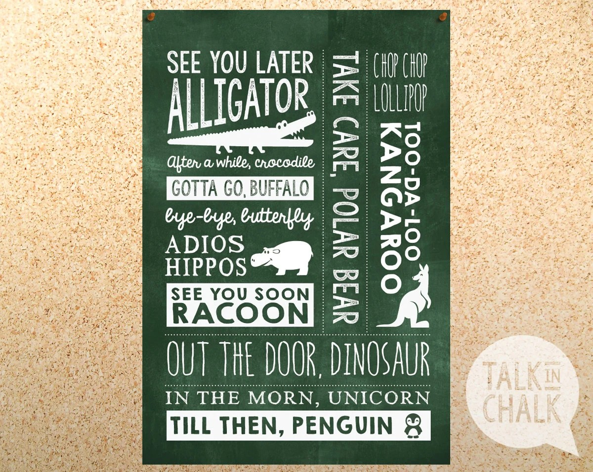 See You Later Alligator Classroom Sign Classroom By
