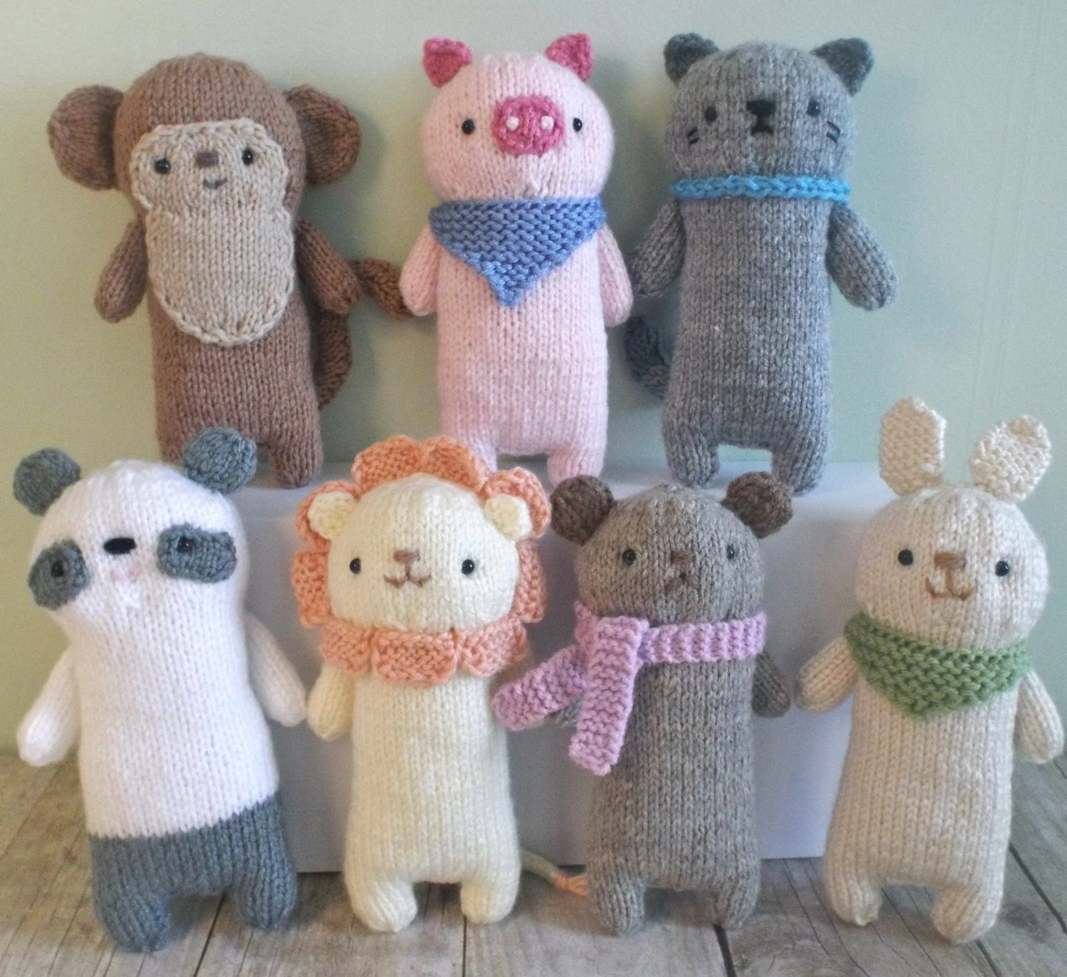 Amigurumi Knit Baby Animals Pattern Set Digital Download From Amygaines On Etsy Studio