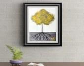 Yellow Tuft Tree Signed Art Print of Signature Original By Rafi Perez