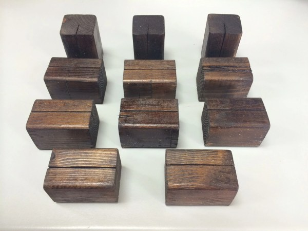 Items similar to 10 Wooden Table Number Holders or Sign ...
