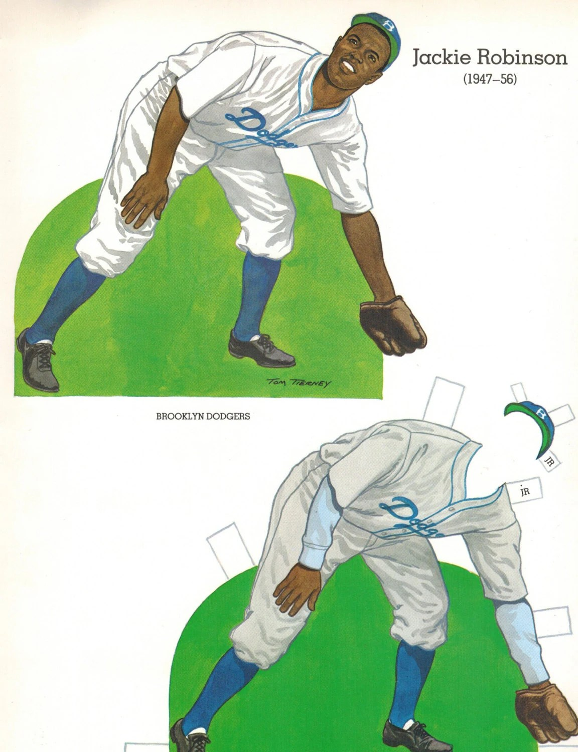 Mlb Baseball Paper Doll Jackie Robinson By Theplayboypages