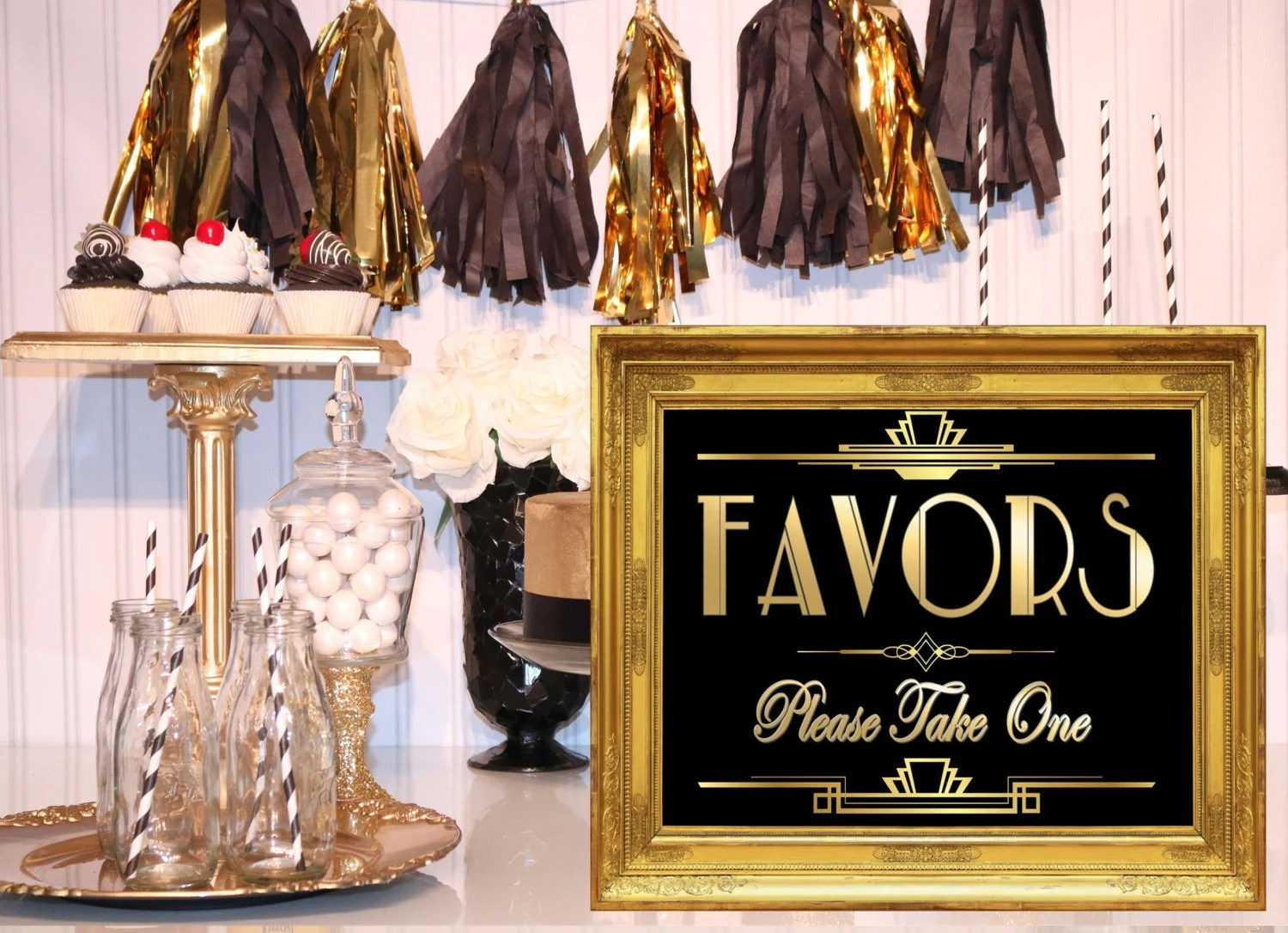 Printable Favors Signgatsby Party Decoration Roaring 20s Art