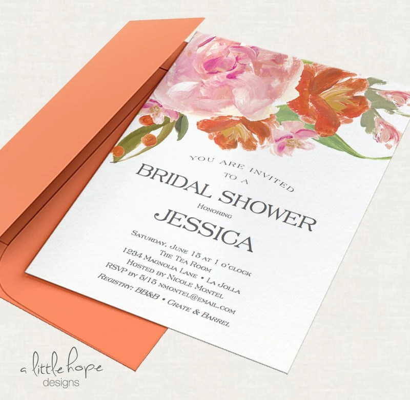 Bridal Shower Invitations Layout