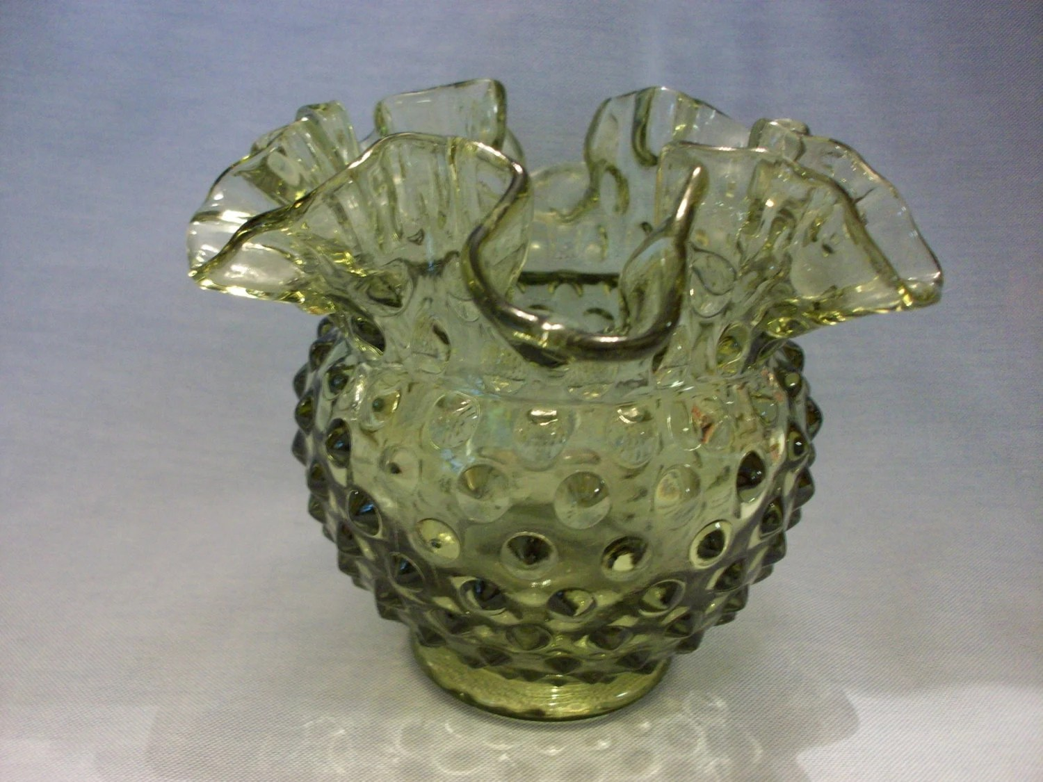 Fenton Light Green Vase