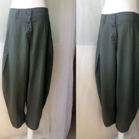 0a567cd0075b Army Green Pants. Women Loose Pants Trousers. Casual Wide Leg Pants. Linen  Pants Plus Size Over-sized Pants. Harem Pants. Summer Pants