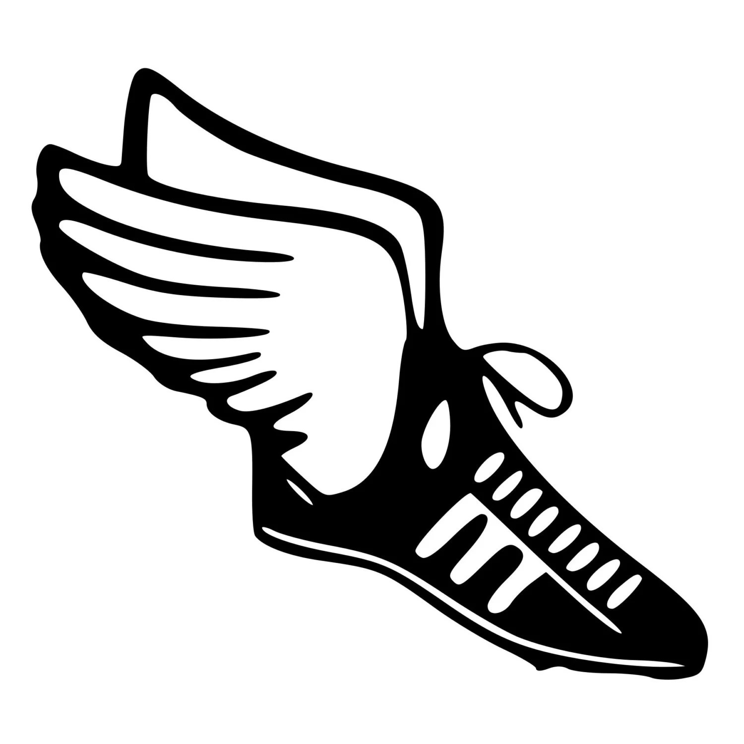 Track Amp Field Runner Shoe With Wings Cut Decal Car Window