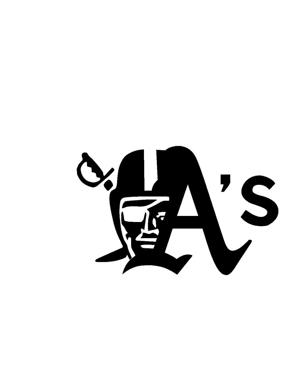 Oakland Raiders Amp A S Vinyl Decal Sticker