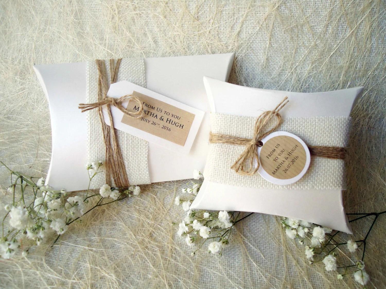 Wedding Favor Boxes Party Favor Boxes Pillow Boxes Burlap Box