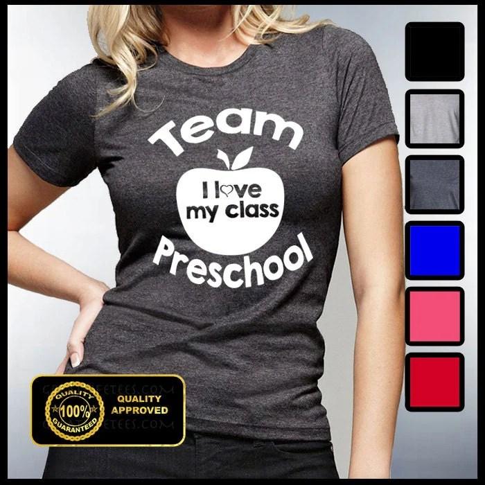 Download Team Preschool Tshirt I love my Class T-shirt Kindergarten