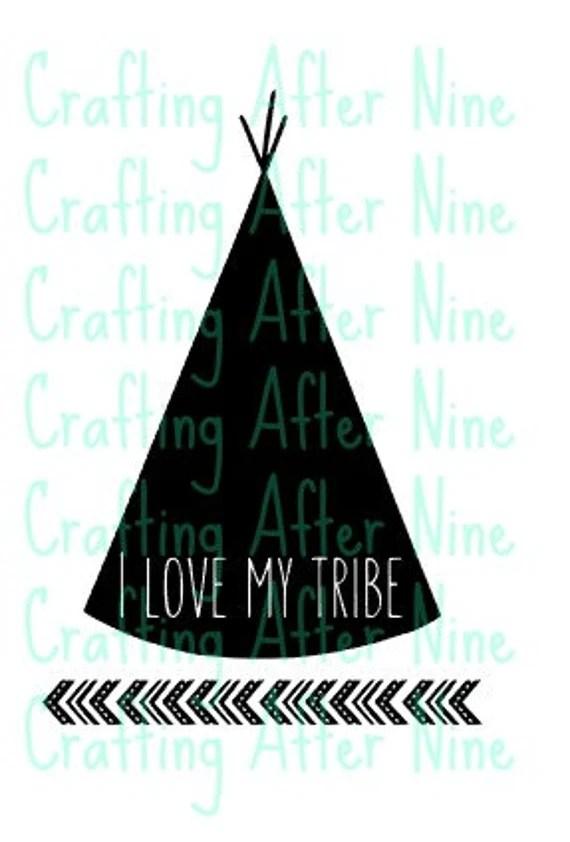 Download My Tribe Svg I Love My Tribe Diy Shirt Digital Image SVG