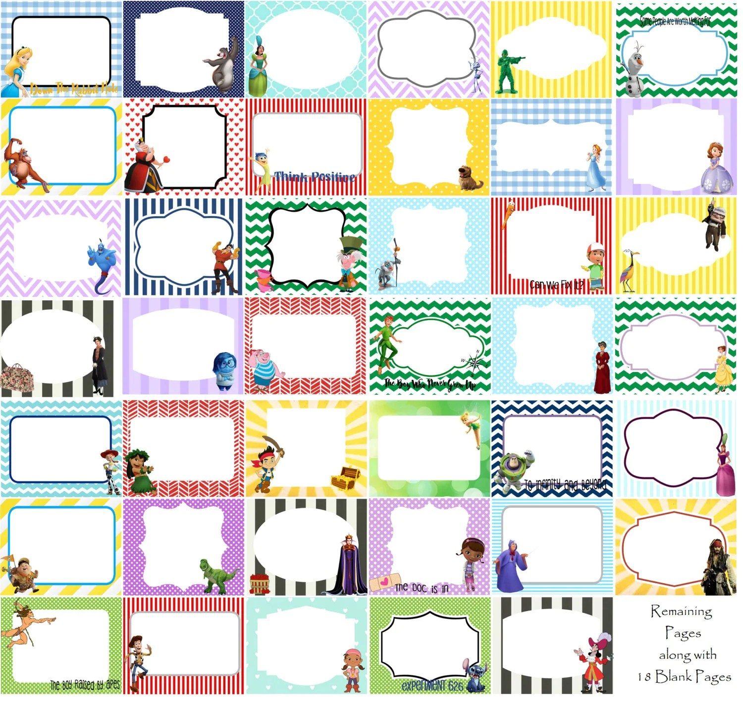 Over 100 Disney Autograph Printables For By Printsmadebymorgan