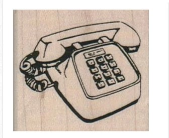 rubber stamp Telephone Pushbutton Phone 8048 mounting