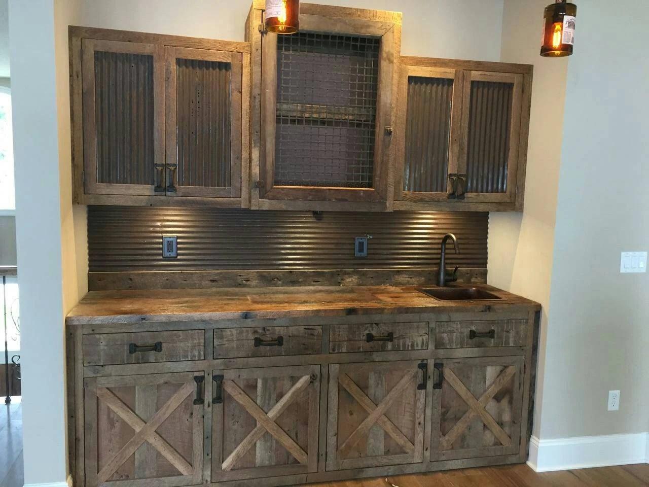 YOUR Custom Made Rustic Barn Wood Entertainment Center Bar