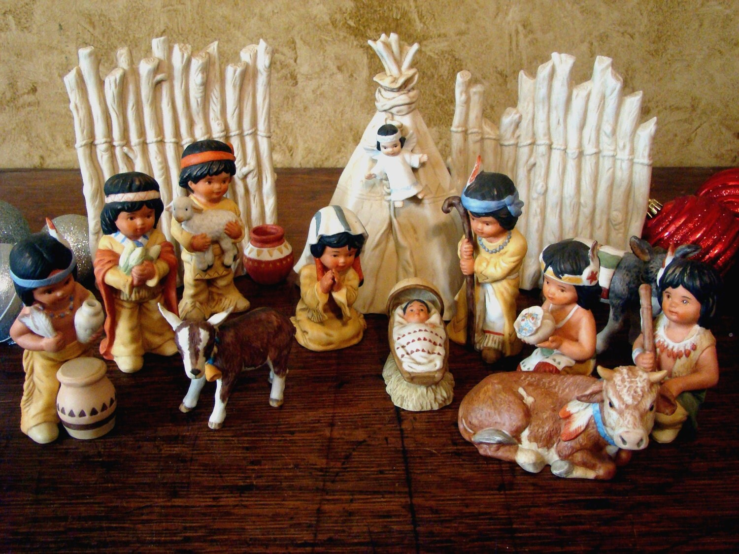 Vintage PERILLO Sagebrush Kids Christmas Nativity Set