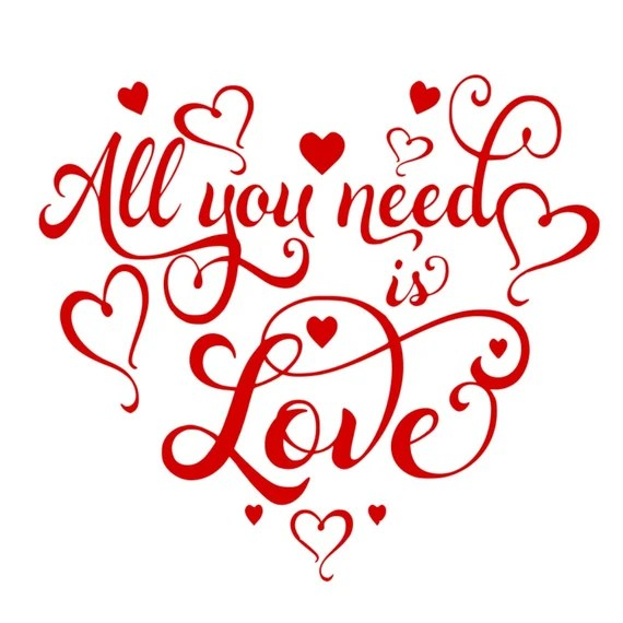 Download SVG All You Need is Love Romantic SVG Love Wedding