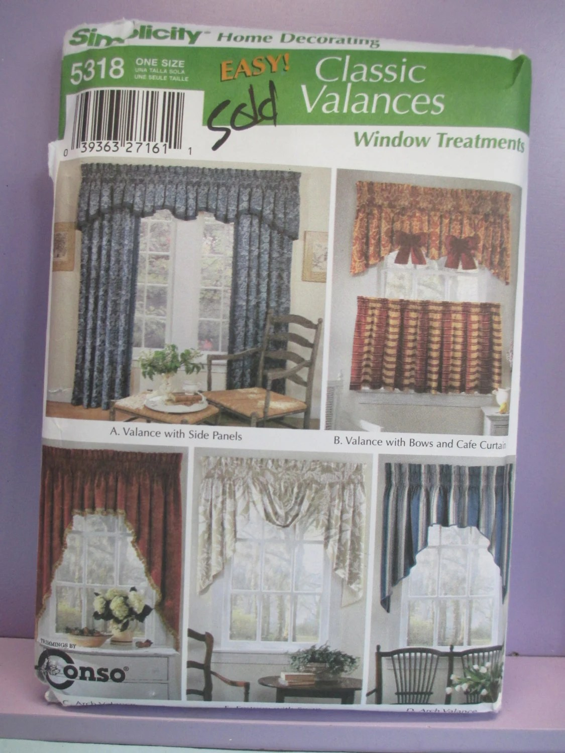 Classic Valances Simplicity Sewing By Thefeathermerchant