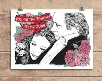 Download Items similar to Johnny Cash, June Carter Window Shade Set ...