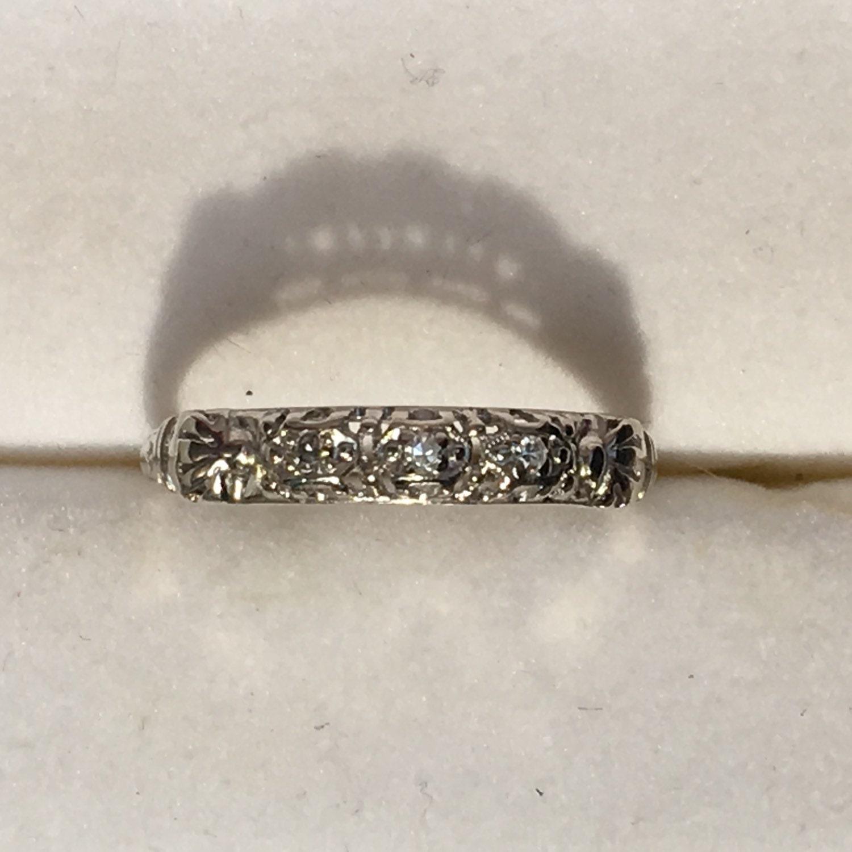 Th Anniversary White Gold Topaz Ring