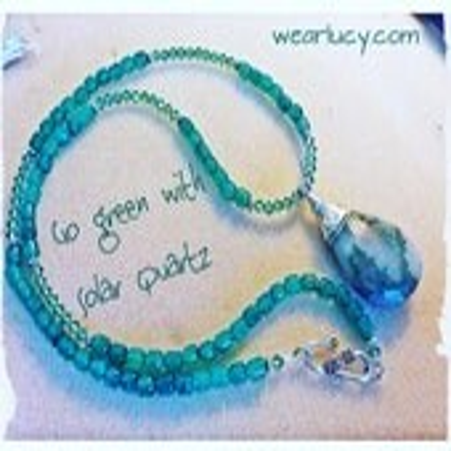 Gemstone pendant necklace...