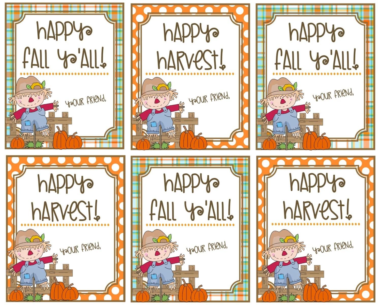 Happy Harvest Happy Fall Ya Ll T Tags Printable