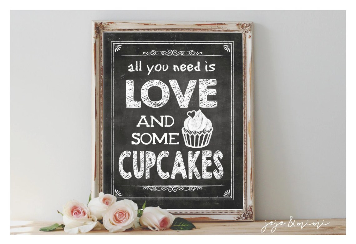 Download Instant 'all you need IS LOVE and some CUPCAKES'