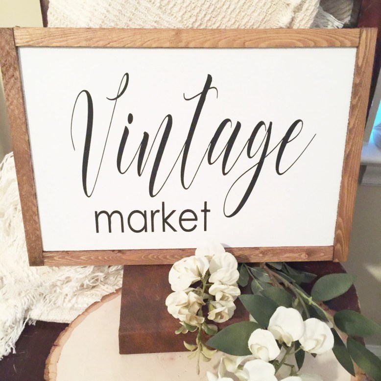 Vintage Market Wooden Fra...