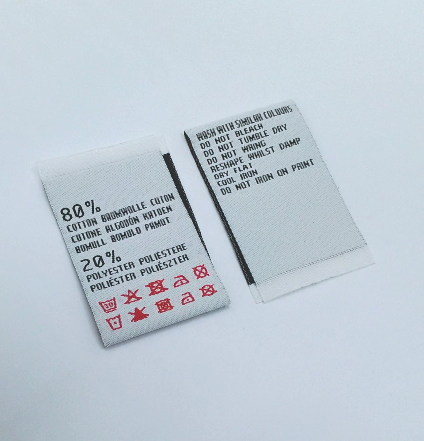 300pcs Care Labels Custom Clothing Label Your By Wovenlabelhk