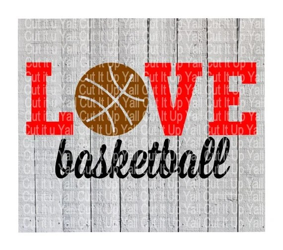 Download Basketball Svg Love Basketball Sports by CutItUpYall on Etsy
