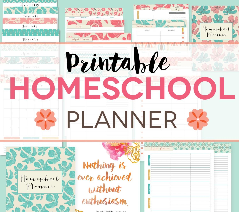 Homeschool Planner Editable Digital Printables By