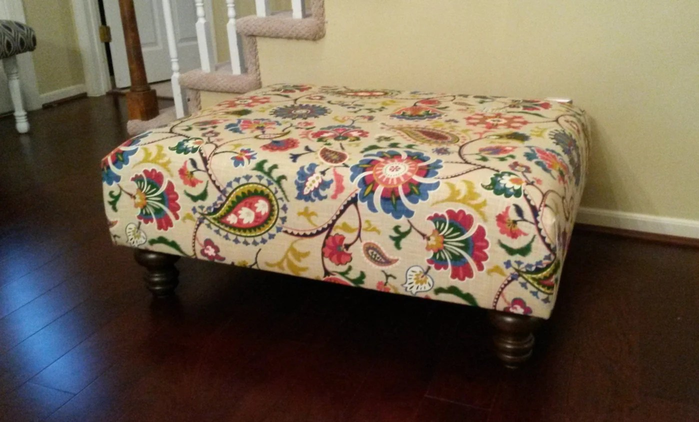 Fabric Ottoman Coffee Table