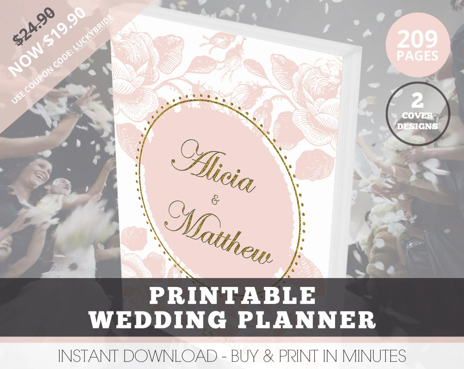 Wedding Planner Organizer, Printable Wedding Planner