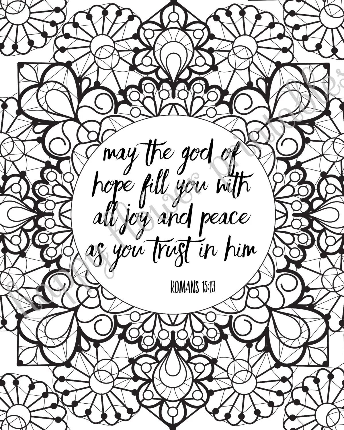 12 Bible Verse Coloring Pages Instant Download Value Bundle