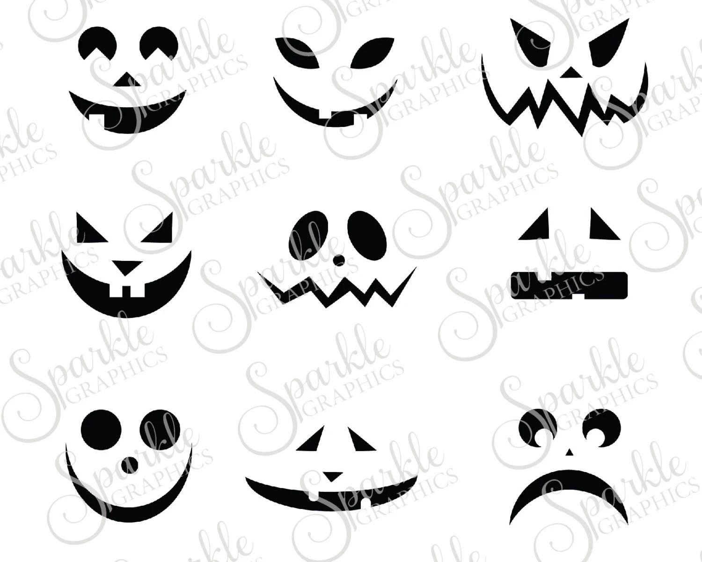 Jack O Lantern Faces Cut File Halloween Svg By