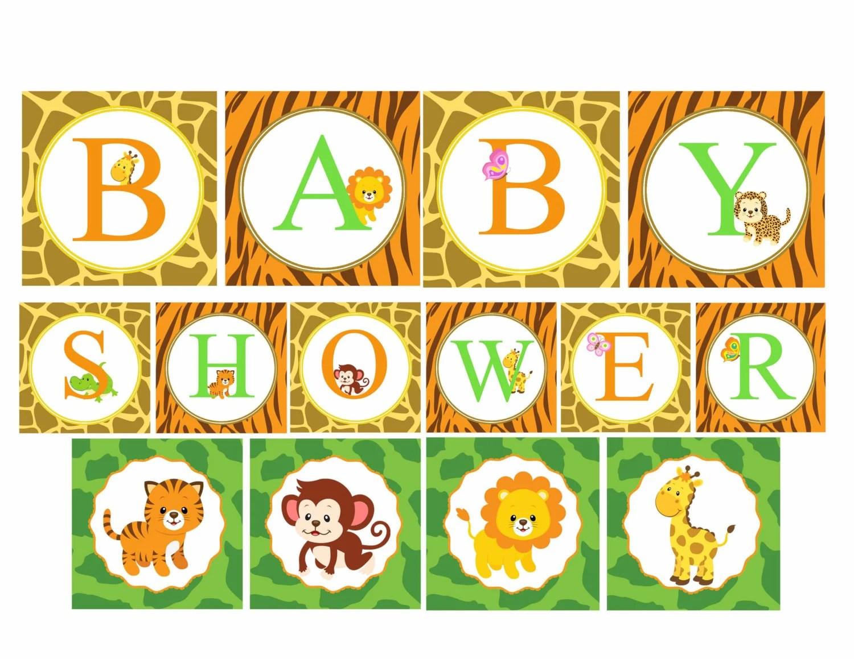 Safari Baby Shower Banner Jungle Baby Shower Decorations