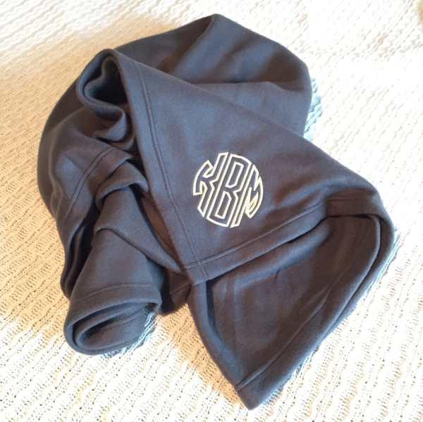 Personalized Fleece Blanket Monogrammed Fleece Blanket