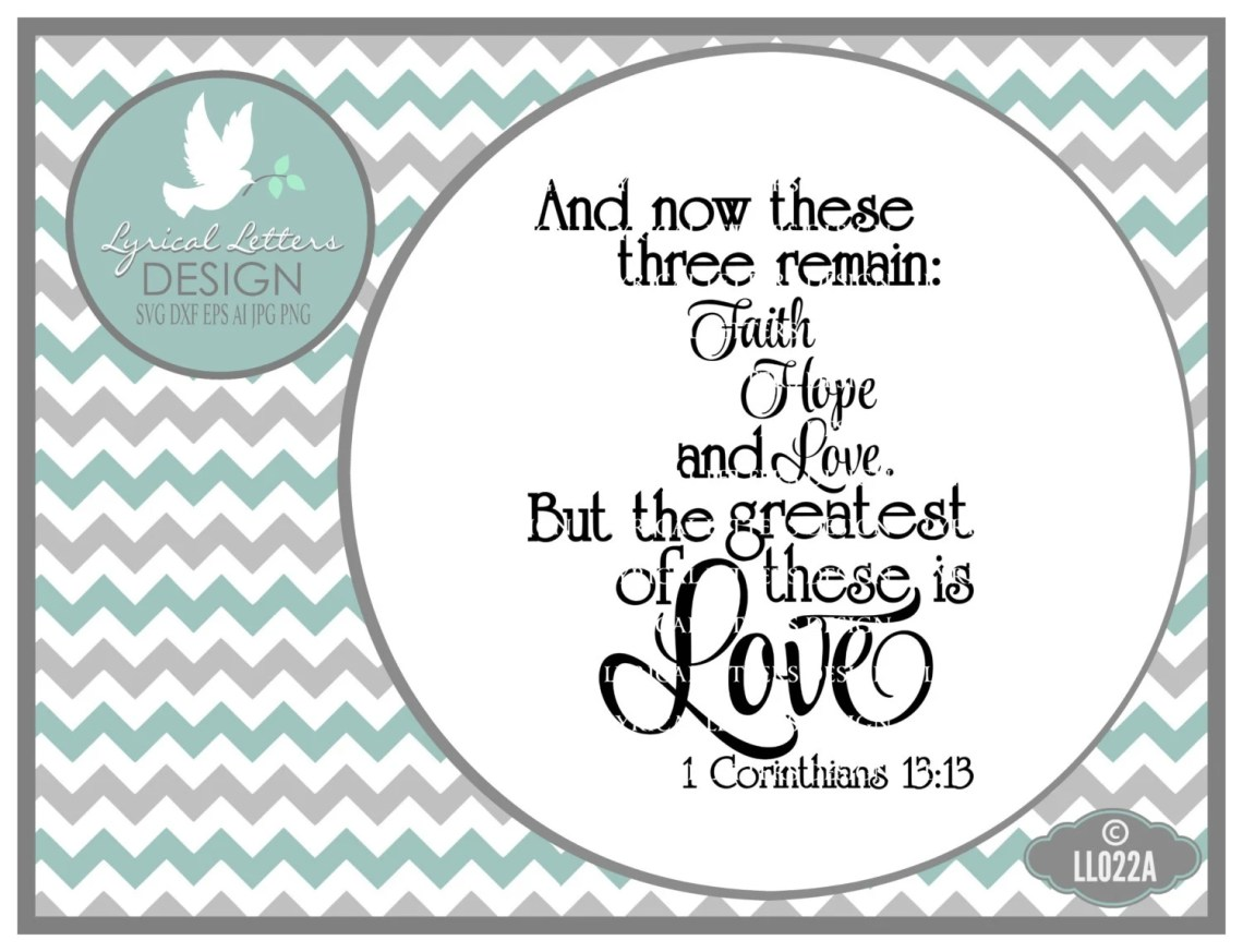 Download Corinthians 13:13 Greatest of These LL022 A Vector