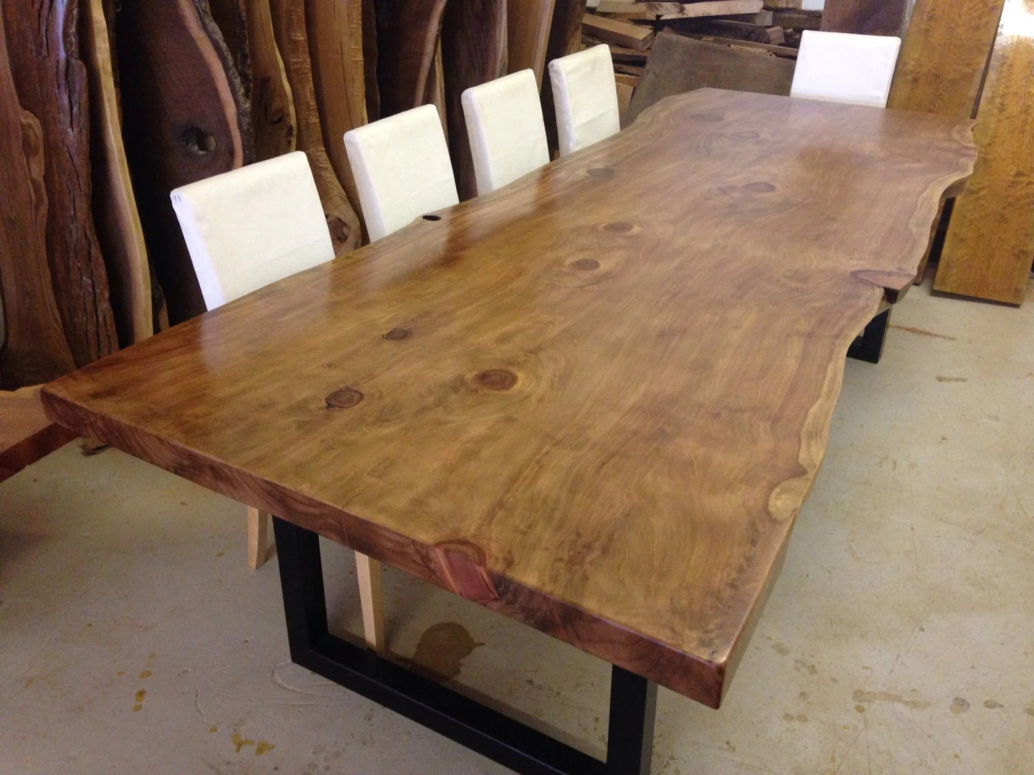 Live Edge Dining Table Wood Slab Dining Table Live Edge