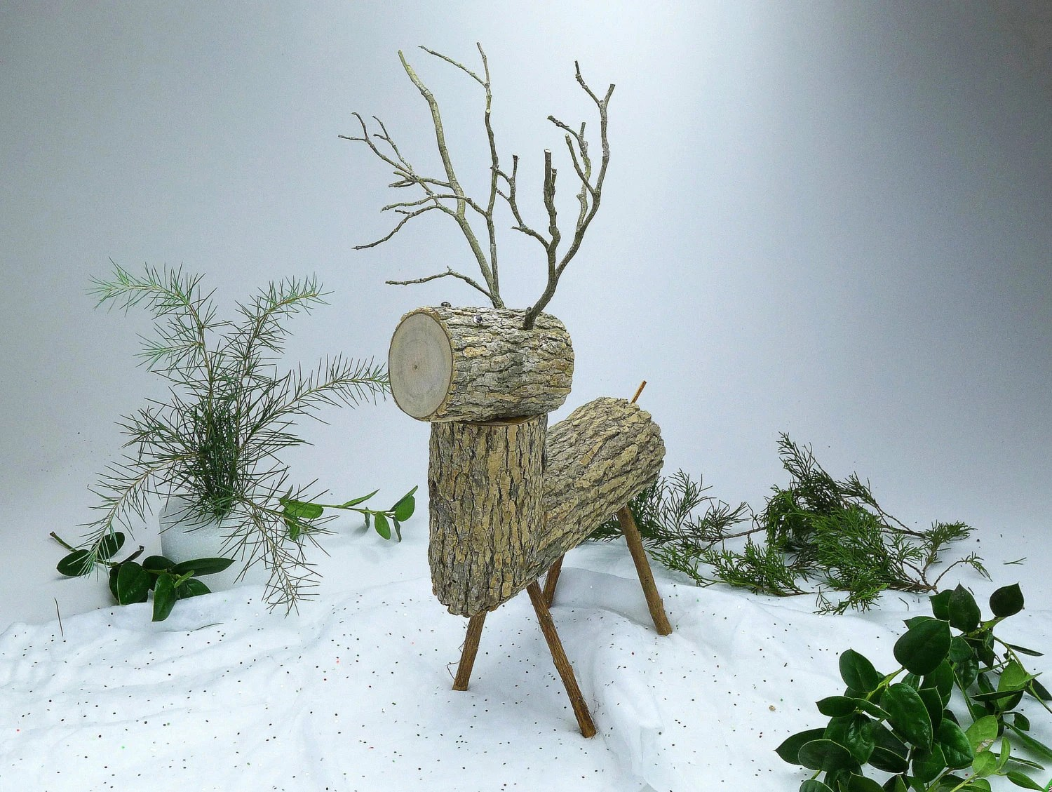 Christmas Tree Made Deer Antlers
