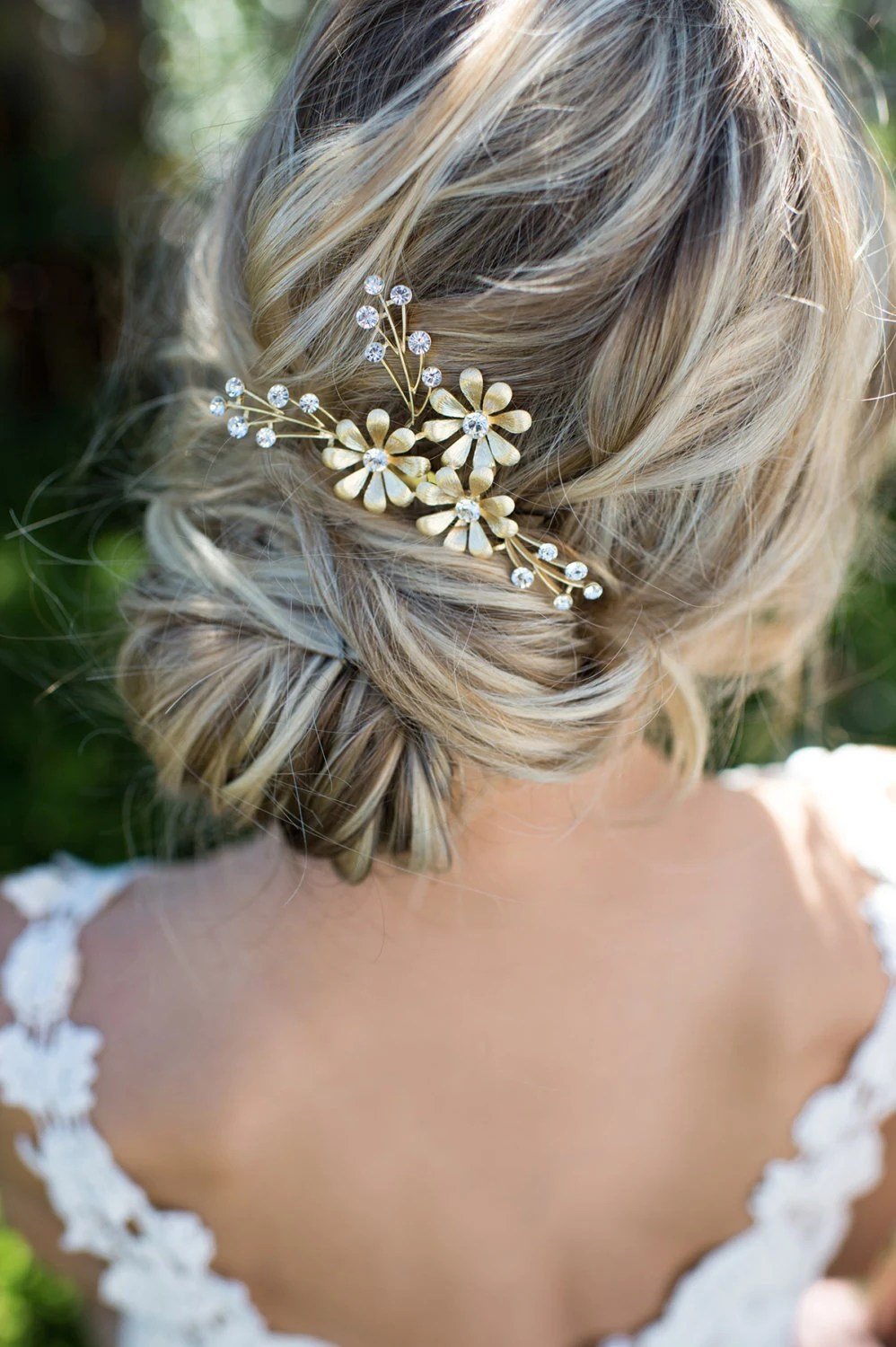 Gold Leaf Laurel Hair Comb Boho Bridal Hair Comb Vintage