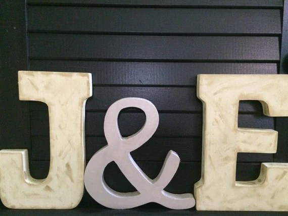 Custom 7.75 Standing Wooden Letters With By KnoeckTheDotCrafts