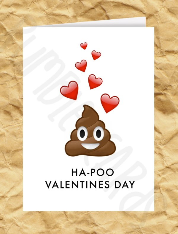 Ha-Poo Valentines Day Poop Emoji Valentines Day by RumbleCards