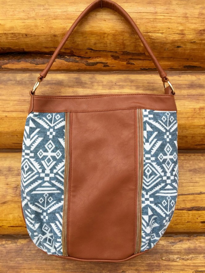 Aztec faux leather bag