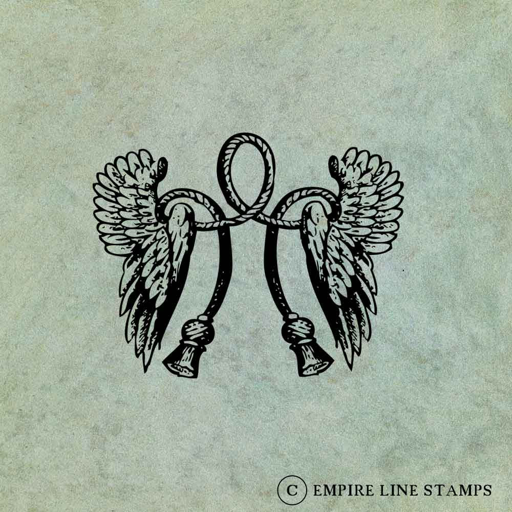 Winged Rope Thistle Motif...