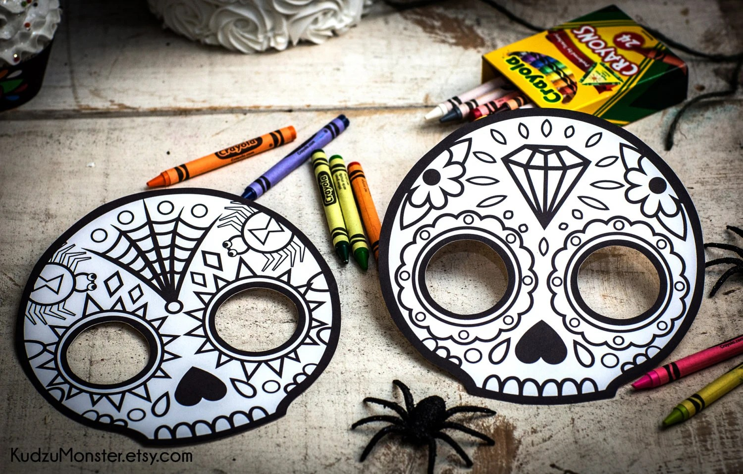 Punk Sugar Skull Day Of The Dead Party Printable Decor Kit Dia