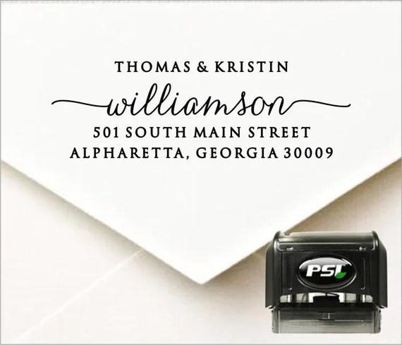address stamp for wedding hacks