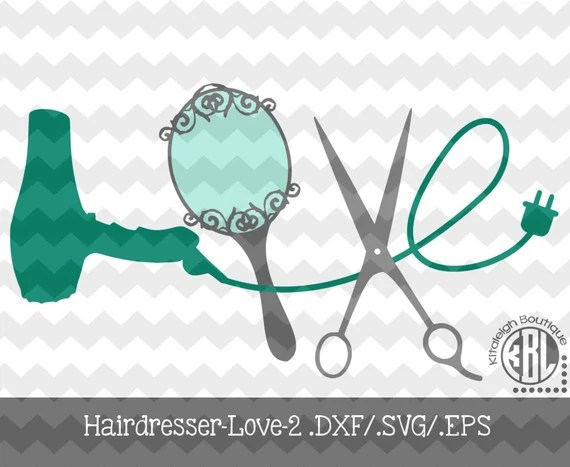 Download Hairdresser-Love-2 .DXF/.SVG/.EPS Files for use with your
