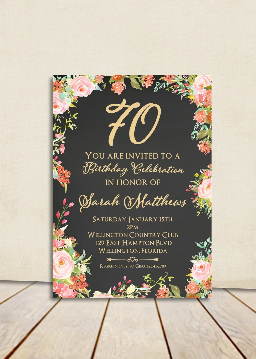 Party Surprise Invitations Birthday 80th