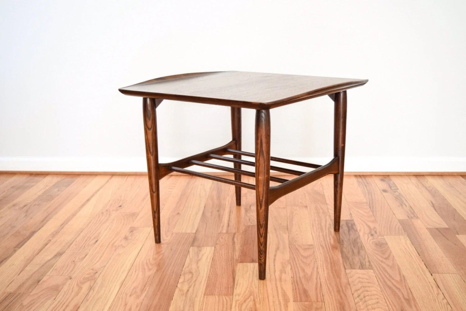 Amazing photo of  wood end table with storage shelf 1950s vintage – Haute Juice with #AD581E color and 1500x1002 pixels
